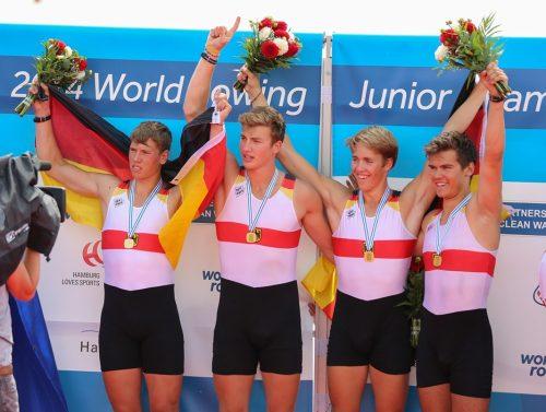 2014: Niclas Schröder(2.v.r) Weltmeister U19